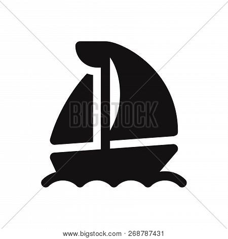 Sail Boat Icon Isolated On White Background. Sail Boat Icon In Trendy Design Style. Sail Boat Vector
