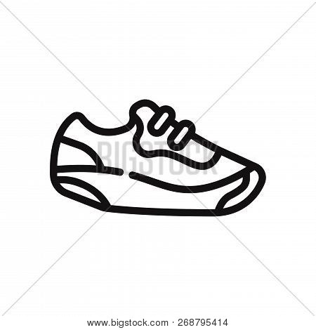 Sneakers Icon Isolated On White Background. Sneakers Icon In Trendy Design Style. Sneakers Vector Ic