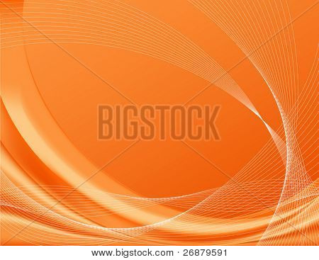 Orange background, complete with wire frames; perfect for templates Note: The vector file contains gradient meshes only editable in Adobe Illustrator.