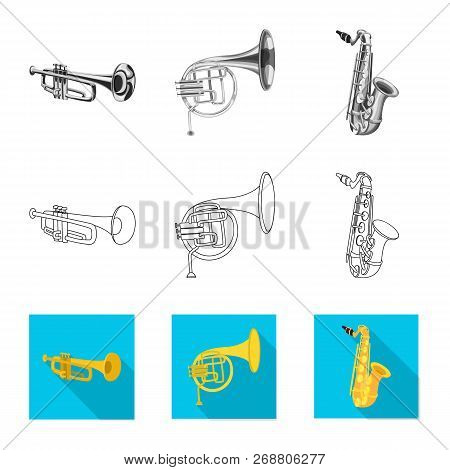 Vector Illustration Of Music And Tune Logo. Set Of Music And Tool Stock Vector Illustration.