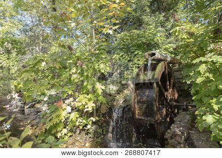 A Waterwheel At Rock City Chattanooga Tennessee
