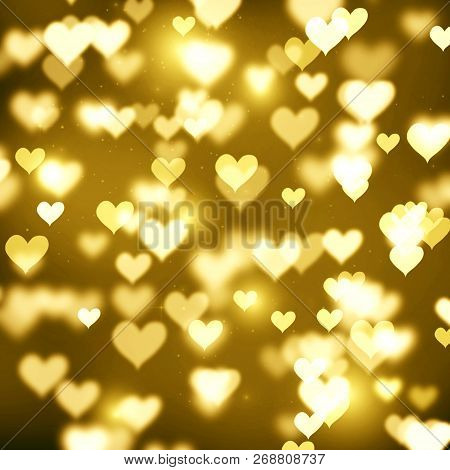 Abstract Background, Background, Spot, Blurred, Gold, Bokeh, Bokeh Background, Bright, Holiday, Chri