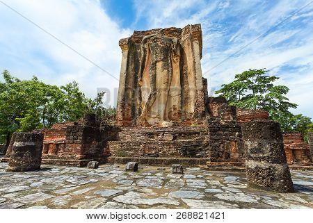 UNESCO World Heritage site Wat Chetuphon in Sukhothai Historical Park, Sukhothai province, Thailand. poster