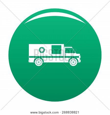 First Aid Icon. Simple Illustration Of First Aid Vector Icon For Any Design Green