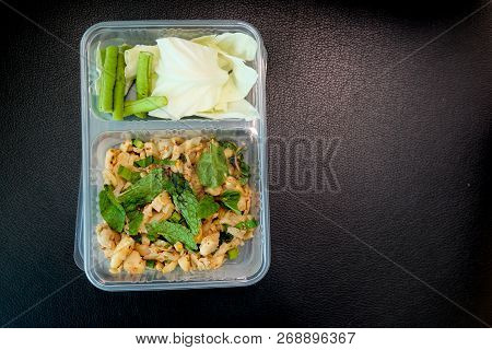Thailand Cuisine Vegetarian In Box. Chinese Vegetarian Food Festival In Thailand