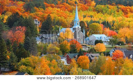 Church in Grandes Piles town ,Quebec, Canada