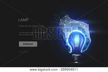 Lamp. The Concept Of An Idea Or Creating Something. Imitation Of The Lamp. The Hand Makes The Silhou