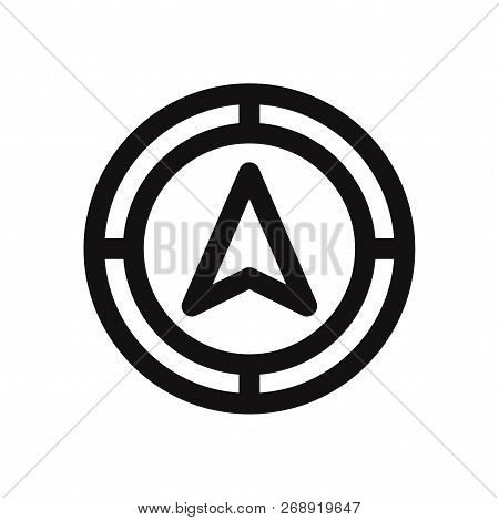 Navigation Icon Isolated On White Background. Navigation Icon In Trendy Design Style. Navigation Vec