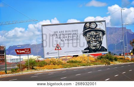 Cape Town, South Africa -december 25,2012: Reconstruction And Development Program In South Africa. B