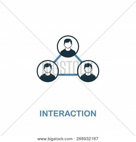 Interaction Icon. Two Colors Premium Design From Management Icons Collection. Pixel Perfect Simple P