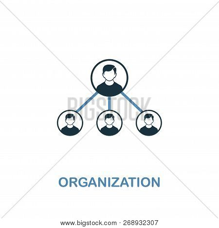 Organization Icon. Two Colors Premium Design From Management Icons Collection. Pixel Perfect Simple