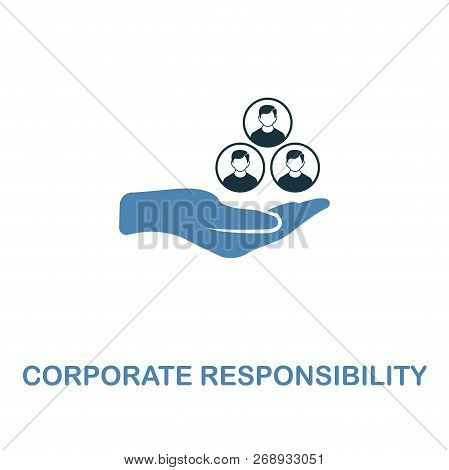 Corporate Responsibility Icon. Two Colors Premium Design From Management Icons Collection. Pixel Per