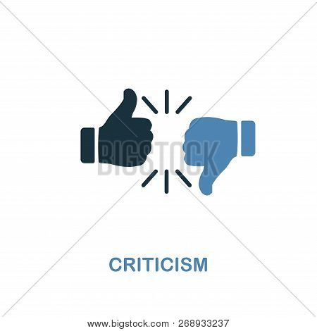 Criticism Icon. Two Colors Premium Design From Management Icons Collection. Pixel Perfect Simple Pic