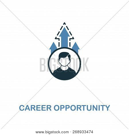 Career Opportunity Icon. Two Colors Premium Design From Management Icons Collection. Pixel Perfect S