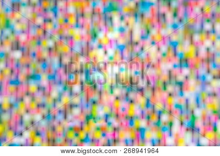 Abstract, Colorful Blurred Background Design. Vivid And Bright Colors.
