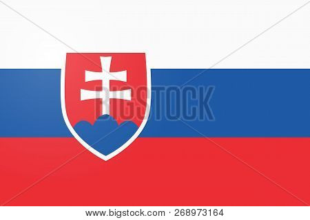 Flag Of Slovakia. Page Symbol For Your Web Site Design Slovakia Flag Logo, App, Ui. Slovakia Flag Ve