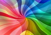 magic multicolored abstract curves sunbeam illustrated background poster