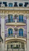 Fragment of Art Nouveau architecture style of Lisbon city t-shirt