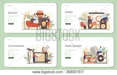 Professional Speaker, Commentator Or Voice Actor Web Banner