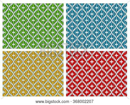 Beautiful Decorative Ethnic Woven (anyaman) Background Texture 16