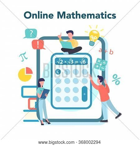 Online Math Course. Learning Mathematics In Internet,