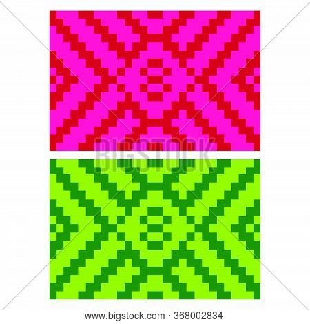 Flat Colorful Beautiful Decorative Ethnic Woven (anyaman) Background Texture 15
