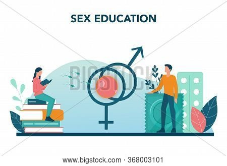 Sexual Education Concept. Sexual Health Lesson For Young People.