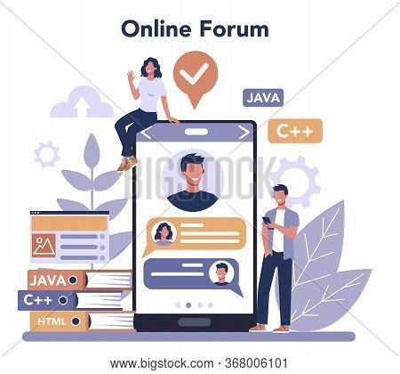 Frontend Development Online Service Or Platform. Website