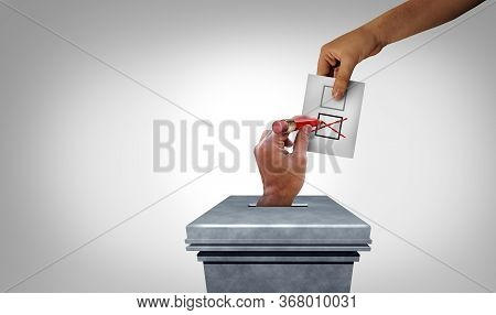 Election Fraud And Vote Rigging Or Voter Crime As A Hand Stealing Votes As Illegal Electoral Activit