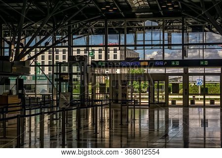 Leinfelden-echterdingen,germany - May 24,2020:airport This Is The Terminal 1,which Was Closed Becaus