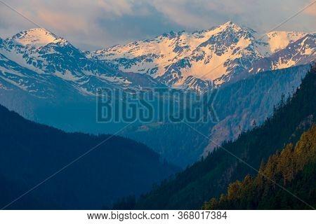 Sunrice in High Tauern, East Tyrol, Austria