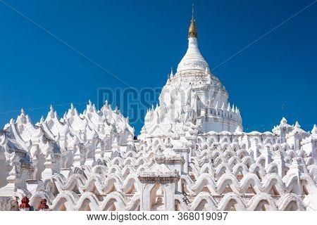 Hsinbyume Pagoda near Mandalay, Myanmar.