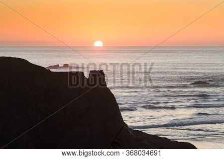 Sunset In The Oregon Coast