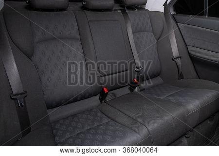 Novosibirsk, Russia - April 02, 2020  Mercedes-benz E-class,comfort Car Inside. Clean Car Interior: