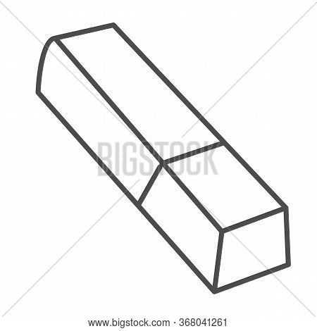 Eraser Thin Line Icon, Stationery Concept, Tool For Correct Or Edit Drawing Vector Sign On White Bac