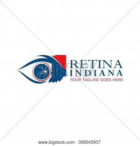 Design, Vector, Image Of The Shape Of The Retina And The Indian Region