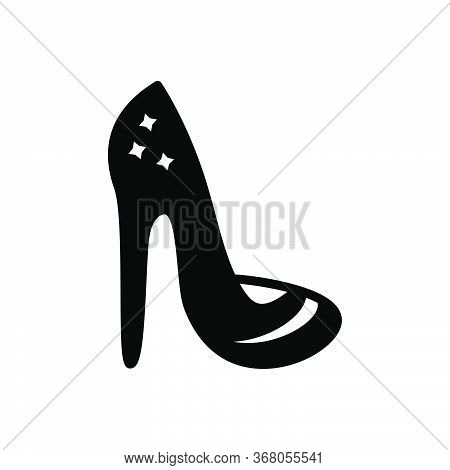 Black Solid Icon For Heels Shoes  High-heels Footwear Sandal Female