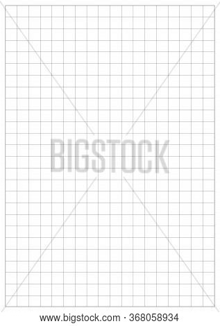 A5 Graph Vector Paper. A5 Sheet Size With Grid. A5 Sheet With White Bounding Box. A Serie Paper Size