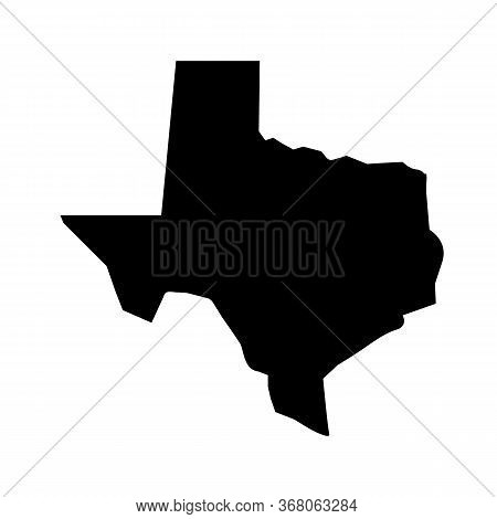 State Of Texas Map In Black On A White Background. Flat Style. Texas Map Icon For Your Web Site Desi