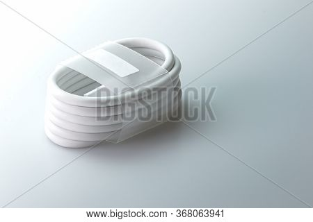 Usb Cable Charger For Smartphone On Gray Background.