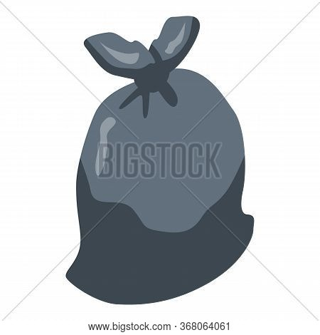 Garbage Sack Icon. Isometric Of Garbage Sack Vector Icon For Web Design Isolated On White Background