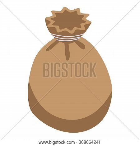Wheat Sack Icon. Isometric Of Wheat Sack Vector Icon For Web Design Isolated On White Background