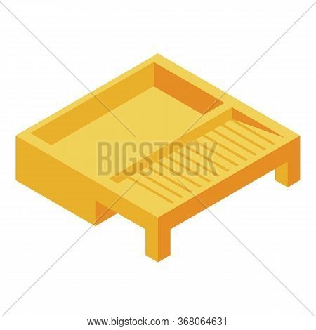 Paint Roller Box Icon. Isometric Of Paint Roller Box Vector Icon For Web Design Isolated On White Ba