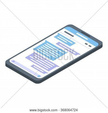 Art Director Smartphone Icon. Isometric Of Art Director Smartphone Vector Icon For Web Design Isolat