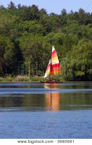 Sailing On A Lake
