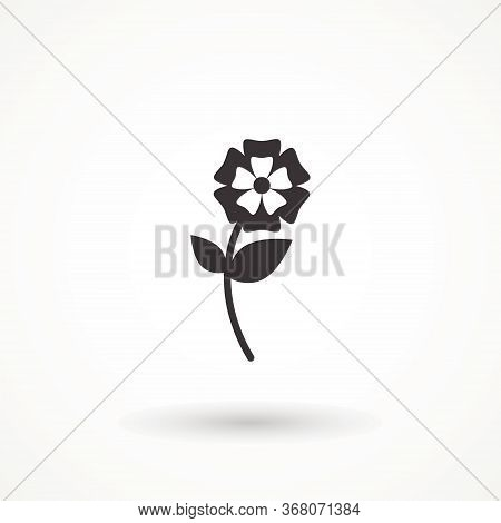 Tulip Icon Isolated On White Background. Tulip Blooms Silhouette Flower Abstract Logo Design Vector