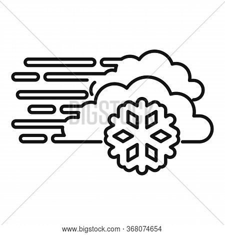 Forecast Blizzard Icon. Outline Forecast Blizzard Vector Icon For Web Design Isolated On White Backg