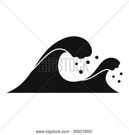 Earthquake Tsunami Icon. Simple Illustration Of Earthquake Tsunami Vector Icon For Web Design Isolat