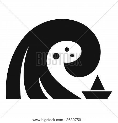Danger Tsunami Icon. Simple Illustration Of Danger Tsunami Vector Icon For Web Design Isolated On Wh