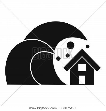 House Tsunami Icon. Simple Illustration Of House Tsunami Vector Icon For Web Design Isolated On Whit